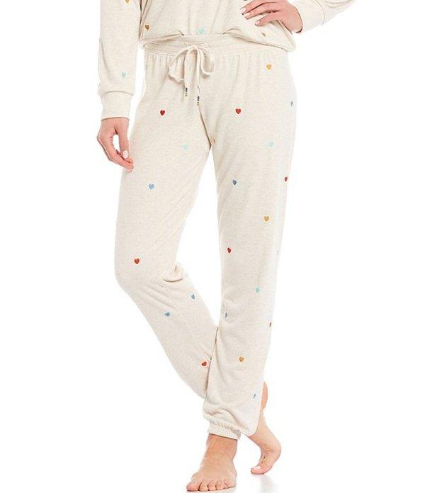 ピージェイサルベージ レディース カジュアルパンツ ボトムス Retro Lounge Heart Embroidered French Terry Jogger Sleep Pants Oatmeal