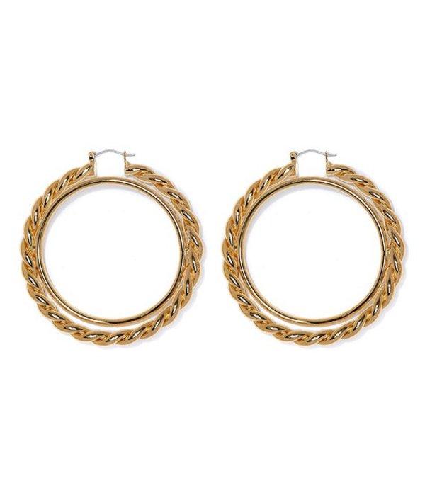 送料無料 サイズ交換無料 ヴィンスカムート レディース 新作製品、世界最高品質人気! アクセサリー ピアス イヤリング 迅速な対応で商品をお届け致します Earrings Textured Hoop Interlocking Gold
