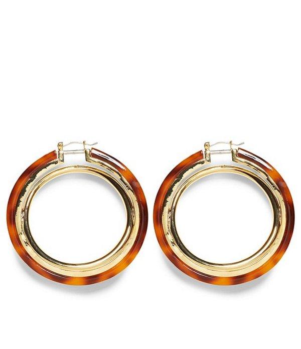 送料無料 サイズ交換無料 ヴィンスカムート レディース アクセサリー ピアス イヤリング Resin ディスカウント Earrings Gold 誕生日プレゼント Hoop Interlocking