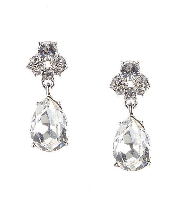 送料無料 サイズ交換無料 半額 ジバンシー レディース アクセサリー ピアス Earrings Drop Crystal イヤリング Silver 2020A/W新作送料無料 Pear