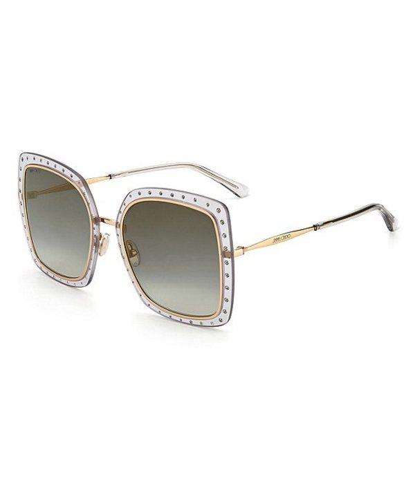 送料無料 サイズ交換無料 ジミーチュー レディース アクセサリー サングラス アイウェア 新作 大人気 Dany 新作続 Sunglasses Oversized Grey 56mm Square Gold