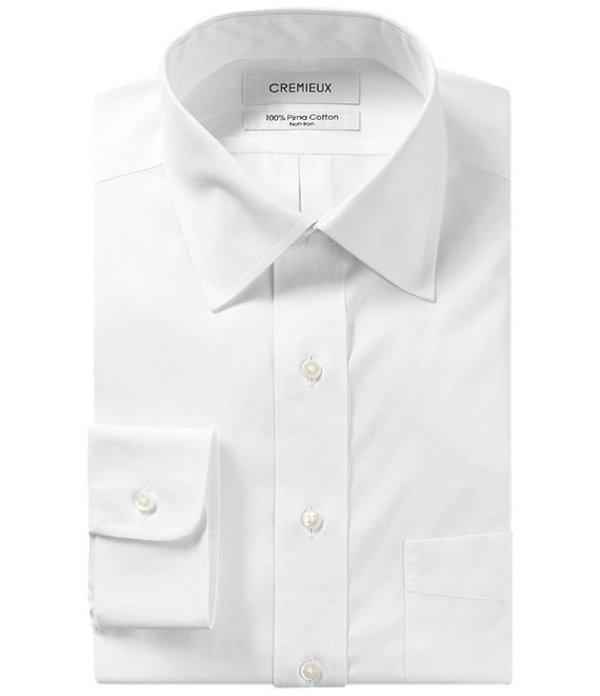 ダニエル クレミュ メンズ シャツ トップス Non-Iron Classic-Fit Spread-Collar Solid Dress Shirt White
