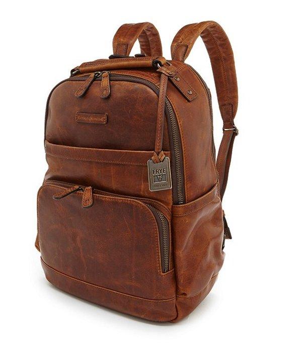フライ メンズ バックパック・リュックサック バッグ Logan Burnished Leather Backpack Cognac