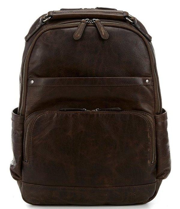 フライ メンズ バックパック・リュックサック バッグ Logan Burnished Leather Backpack Slate