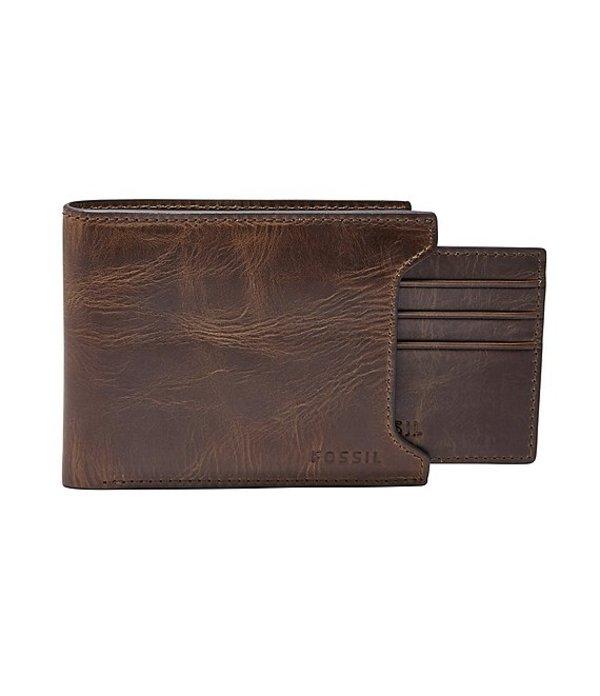 フォッシル メンズ 財布 アクセサリー Derrick Sliding 2-in-1 Wallet Dark Brown