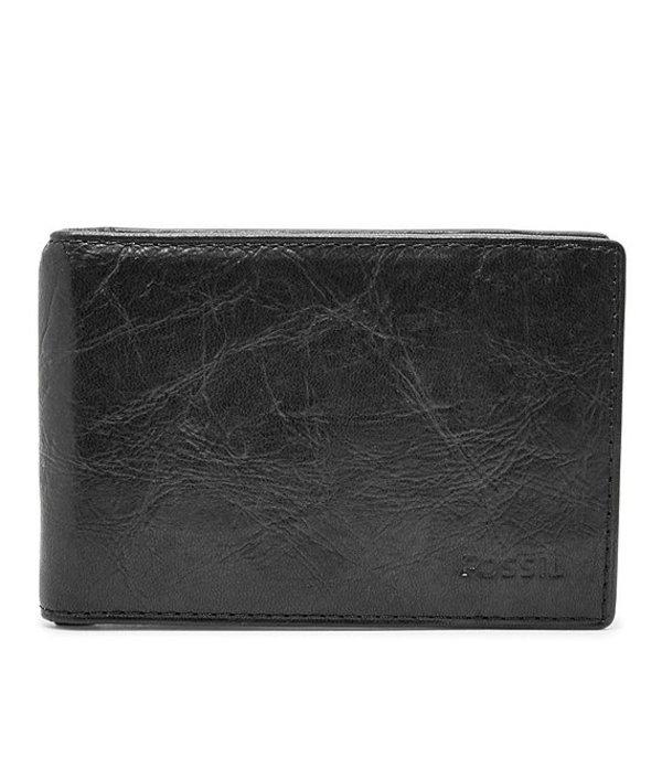 フォッシル メンズ 財布 アクセサリー Ingram RFID Leather Money Clip Bifold Wallet Black