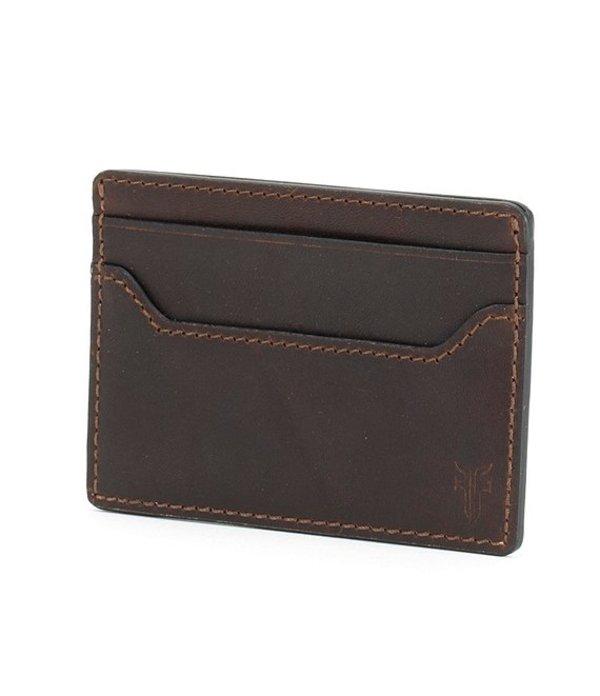 フライ メンズ 財布 アクセサリー Logan Money Clip Card Case Dark Brown
