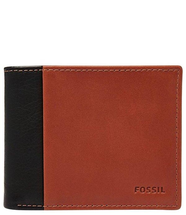 フォッシル メンズ 財布 アクセサリー Ward RFID Flip Colorblock ID Bifold Wallet Black