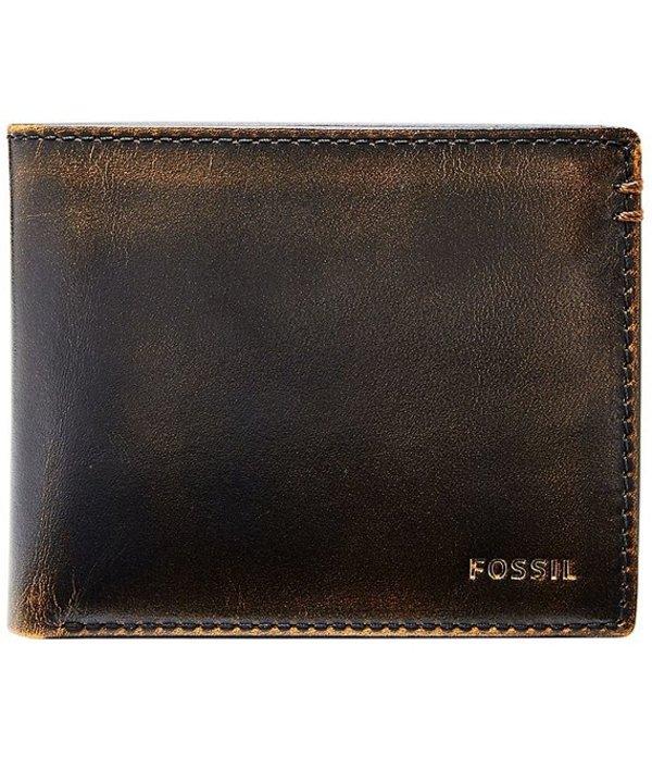 フォッシル メンズ 財布 アクセサリー Wade Flip ID Bifold Wallet Black