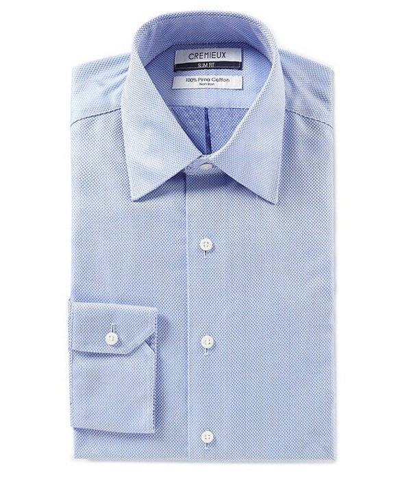 ダニエル クレミュ メンズ シャツ トップス Non-Iron Slim Fit Spread Collar Solid Dress Shirt Blue
