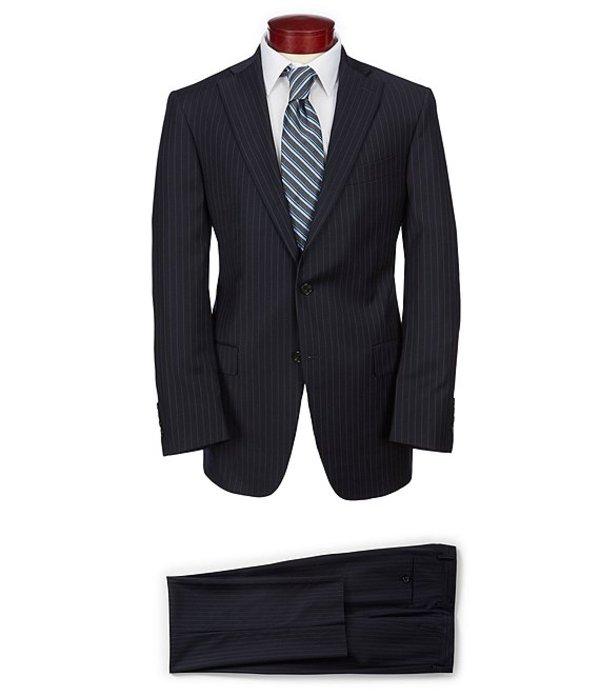 ハート シャフナー マルクス メンズ ジャケット・ブルゾン アウター Classic Fit Striped Suit Navy