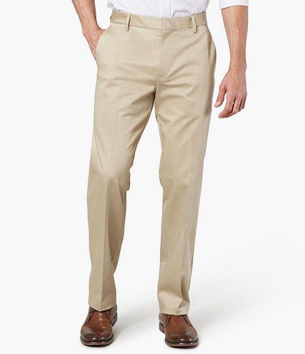 ドッカーズ メンズ カジュアルパンツ ボトムス Alpha Khaki Never Iron Straight Fit Flat-Front Pants Chino