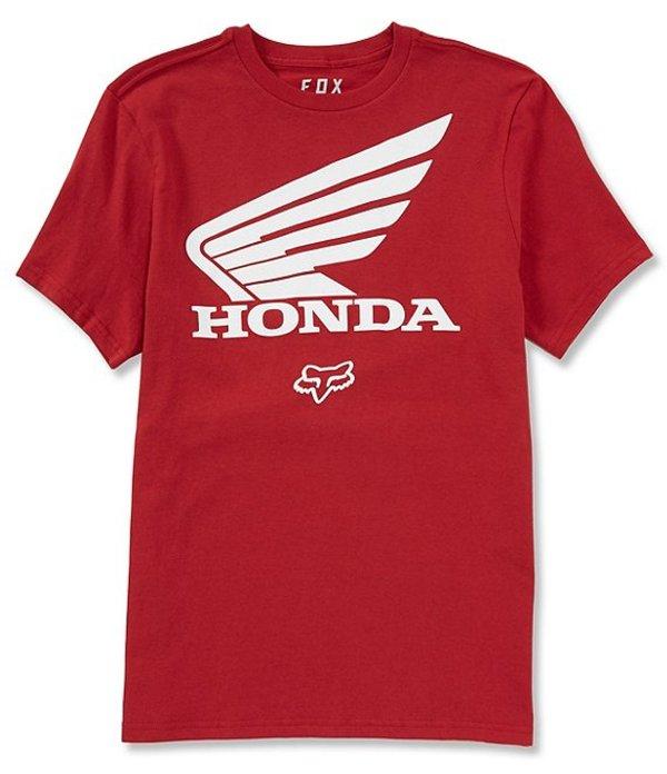 フォックス メンズ シャツ トップス Honda Short-Sleeve Graphic T-Shirt Cardinal