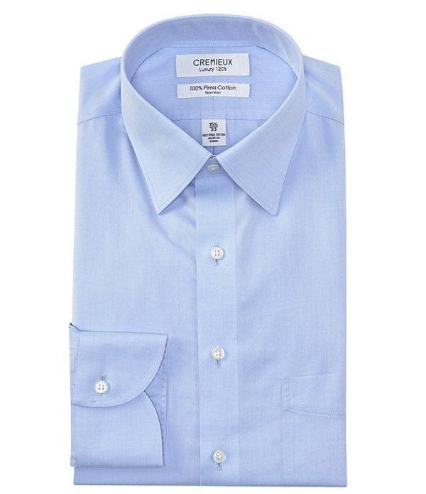 ダニエル クレミュ メンズ シャツ トップス Non-Iron Classic Fit Spread Collar Solid Twill Dress Shirt Light Blue