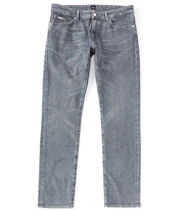 ヒューゴボス メンズ デニムパンツ ボトムス BOSS Slim-Fit Delaware Denim Jeans Grey