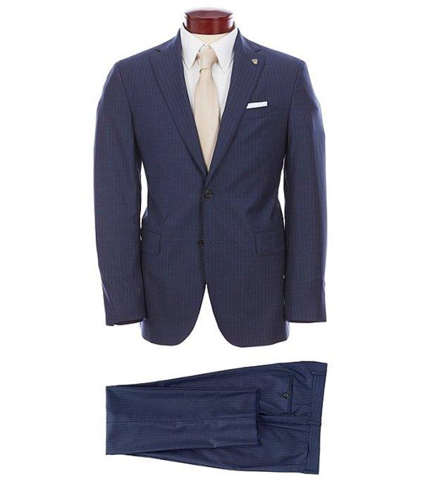 ダニエル クレミュ メンズ ジャケット・ブルゾン アウター Classic Fit Pinstripe Wool Suit Navy