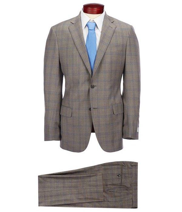 ハート シャフナー マルクス メンズ ジャケット・ブルゾン アウター Modern Fit Plaid Wool Suit Tan