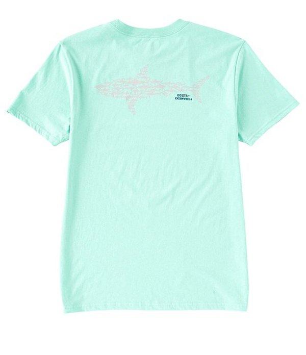 コスタ メンズ シャツ トップス Ocearch Collection Huddle Short-Sleeve Graphic Shark T-Shirt Chill