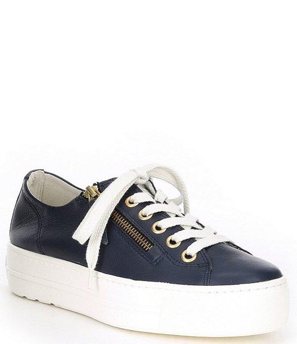 欲しいの ポール・グリーン レディース スニーカー シューズ Harper Lace-Up Sneakers Blue Nubuck Gold eyelets, ウィッグ専門店アイアイショップ 03e8d688