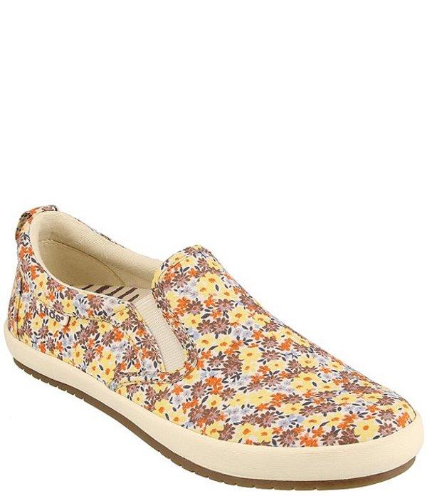 タオスフットウェア レディース スニーカー シューズ Dandy Floral Print Canvas Slip-Ons Yellow Floral Multi