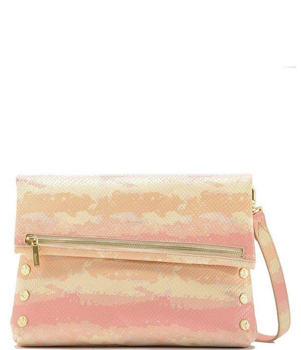 良質  ハミット レディース ショルダーバッグ Large Pink バッグ VIP Fold Over Large ハミット Studded Leather Zip Flap Crossbody Bag Pink Himalayan Snake/Brushed Gold, MilkyFace:ae2cdf82 --- jeuxtan.com