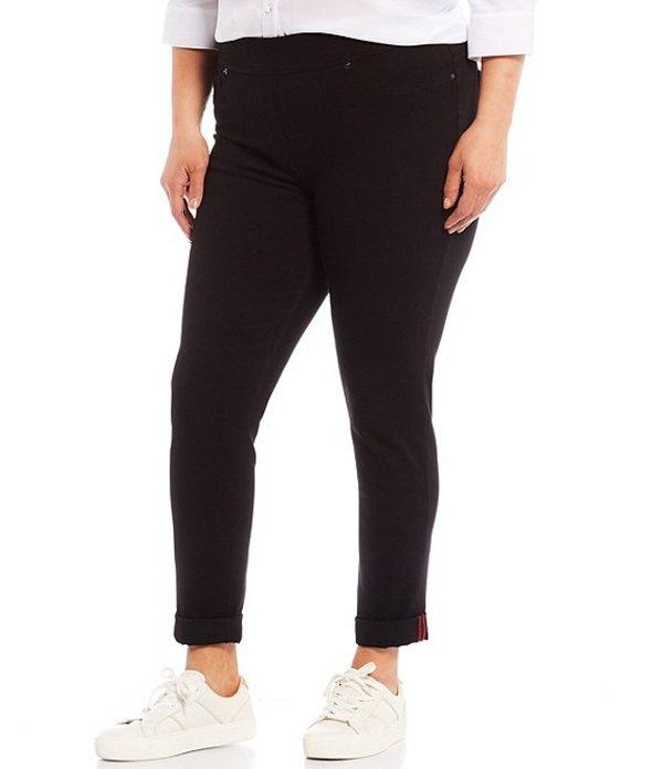 インベストメンツ レディース カジュアルパンツ ボトムス Slim Factor by Investments Plus Size Classic Waist Denim Skinny Cuff Legging Black Wash