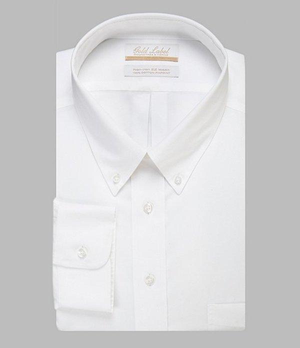 ラウンドトゥリーアンドヨーク メンズ シャツ トップス Gold Label Roundtree & Yorke Big & Tall Non-Iron Button-Down Collar Solid Dress Shirt White