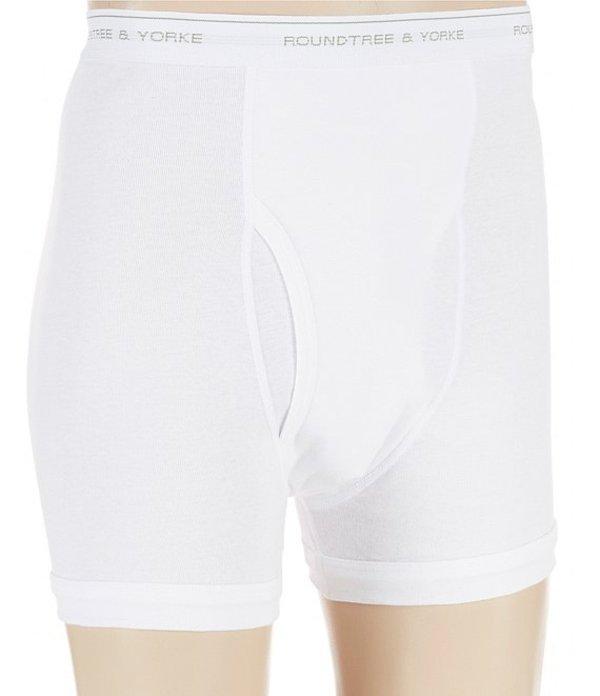 ラウンドトゥリーアンドヨーク メンズ ボクサーパンツ アンダーウェア 2-Pack Assorted Boxer Briefs White
