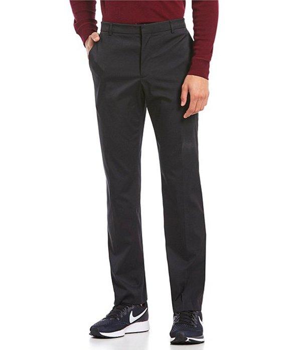 ペリーエリス メンズ カジュアルパンツ ボトムス Premium Performance Flat-Front Classic Fit Flex Waist Stretch Pants Black