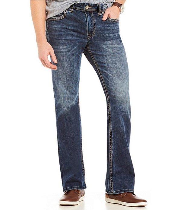 シルバー ジーンズ メンズ デニムパンツ ボトムス Zac Relaxed-Fit Straight-Leg Dark Wash Denim Jeans Indigo