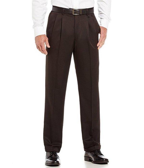 ラウンドトゥリーアンドヨーク メンズ カジュアルパンツ ボトムス Big & Tall TravelSmart Non-Iron Pleated Comfort Microfiber Stretch Dress Pants Black