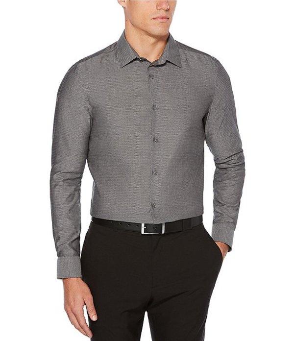 ペリーエリス メンズ シャツ トップス Big & Tall Solid Dobby Wrinkle-Resistant Water-Repellent Long-Sleeve Woven Shirt Castle Rock