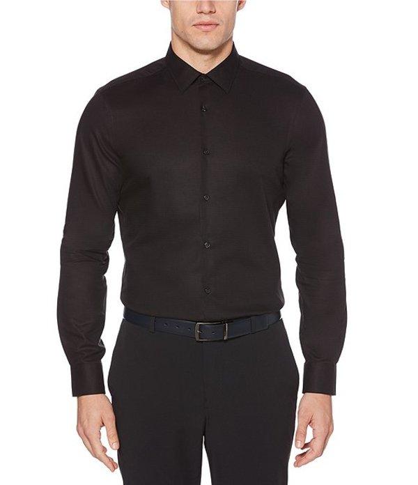 ペリーエリス メンズ シャツ トップス Big & Tall Solid Dobby Wrinkle-Resistant Water-Repellent Long-Sleeve Woven Shirt Licorice