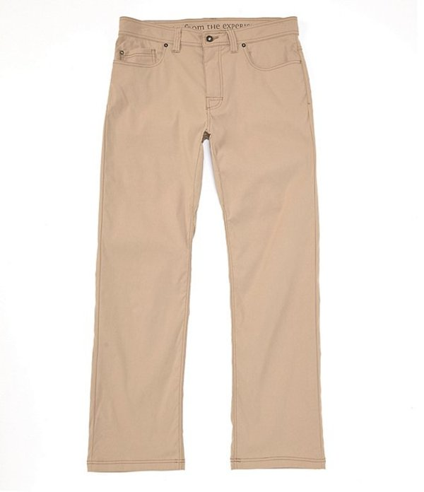 プラーナ メンズ カジュアルパンツ ボトムス Prana Brion Modern-Fit 5-Pocket Water-Repellent Stretch Pants Dark Khaki