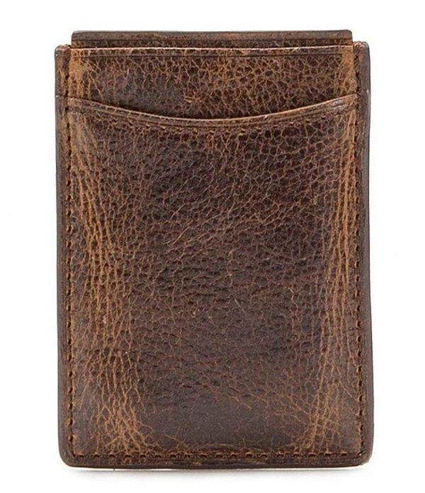 パトリシアナシュ メンズ 財布 アクセサリー Nash Firenze Magnetic Money Clip Card Case Brown