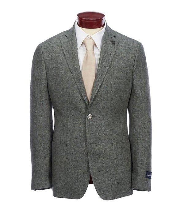 サイコバニー メンズ ジャケット・ブルゾン アウター Slim Fit Solid Sportcoat Green