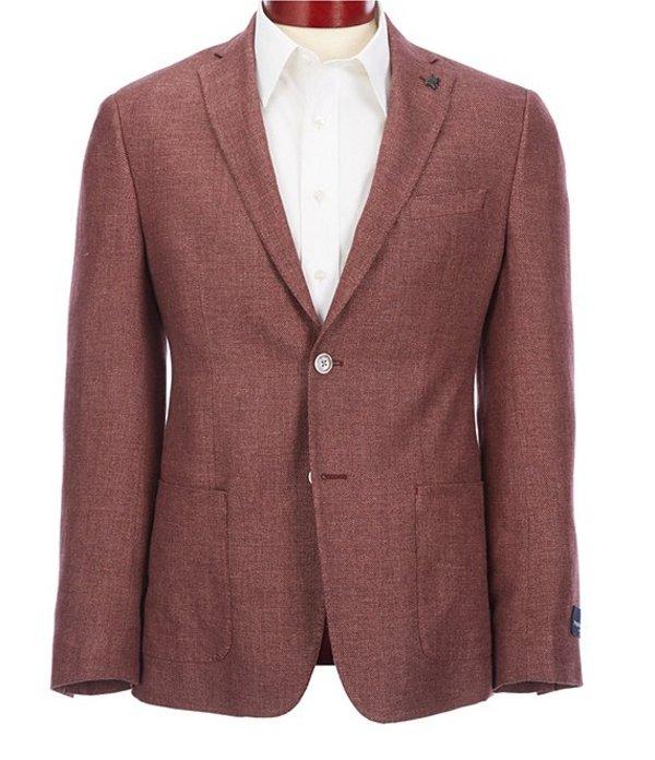 サイコバニー メンズ ジャケット・ブルゾン アウター Slim Fit Solid Sportcoat Red