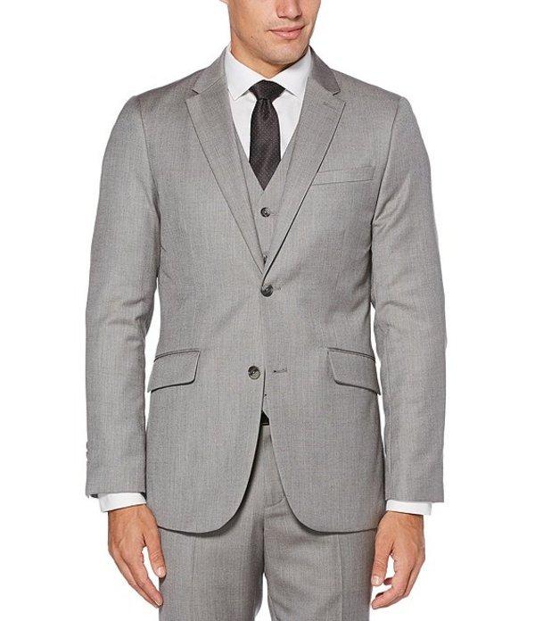 ペリーエリス メンズ ジャケット・ブルゾン アウター Big & Tall Herringbone Suit Separates Jacket Brushed Nickel