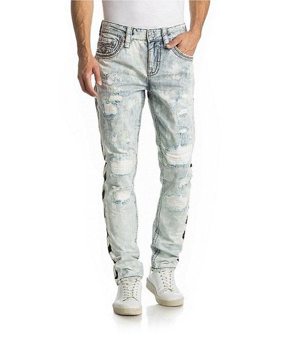 ロックリバイバル メンズ デニムパンツ ボトムス Jerret Taper Leg Side Stripe Jeans Acid Blue