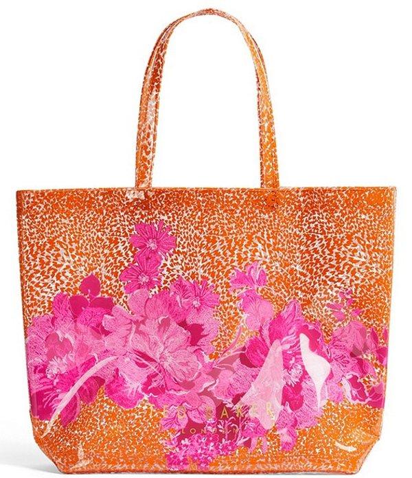 送料無料 サイズ交換無料 テッドベーカー レディース バッグ トートバッグ 新商品 Bag Large Icon 豪華な Tote Pink Cheetah