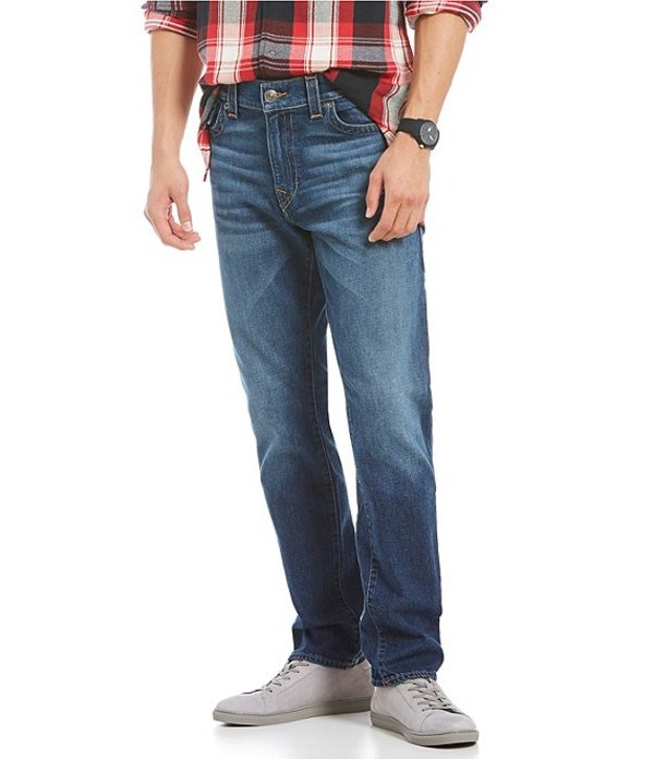 トゥルーレリジョン メンズ デニムパンツ ボトムス Geno Tapered Straight with Flap Jeans Blue Cascade