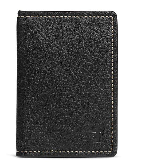 トラスク メンズ 財布 アクセサリー Men's Jackson Card Case Black