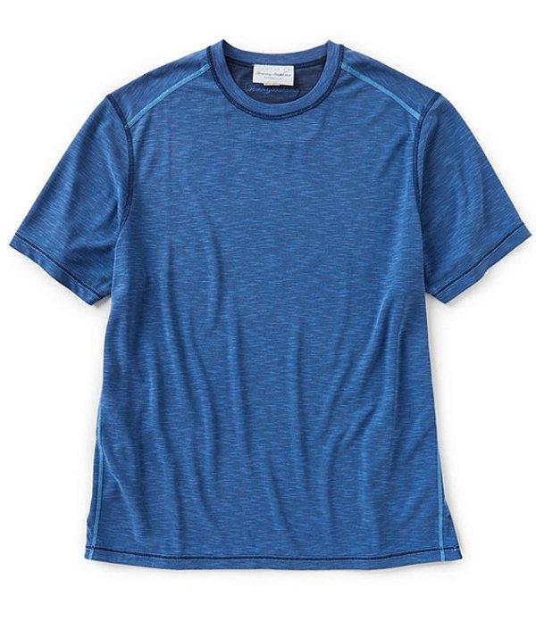 トッミーバハマ メンズ シャツ トップス Flip Tide Reversible Short-Sleeve Tee Galaxy Blue
