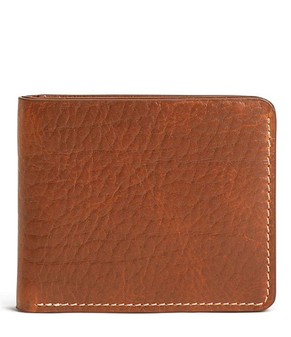 トラスク メンズ 財布 アクセサリー Men´s Jackson Bison Slim Fold Wallet Cognac