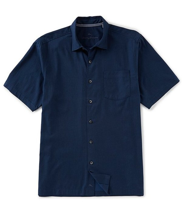 トッミーバハマ メンズ シャツ トップス Catalina Stretch Twill Short-Sleeve Woven Shirt Navy