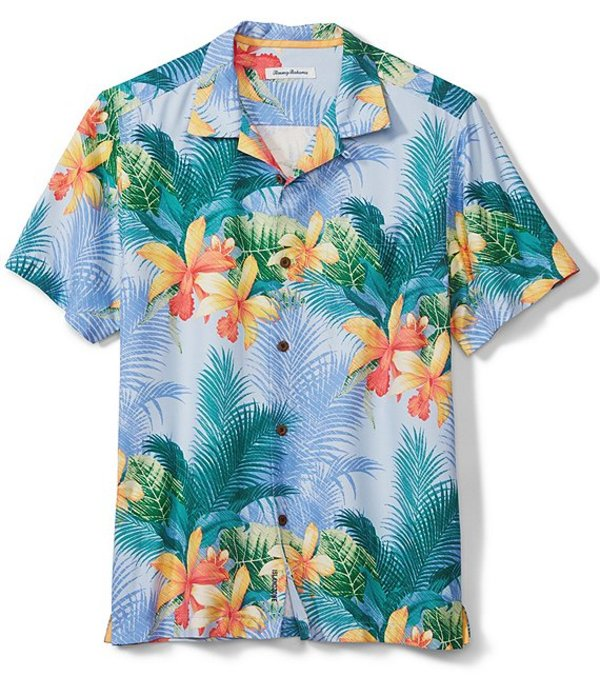 トッミーバハマ メンズ シャツ トップス Shadows In Paradise Print Short-Sleeve Woven Shirt Light Sky