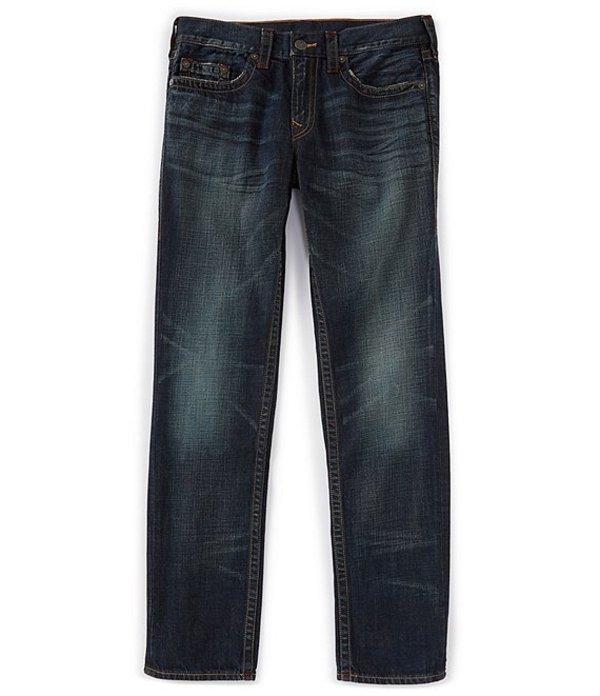 トゥルーレリジョン メンズ デニムパンツ ボトムス Geno Tint Slim Straight Jeans Dark Adaptation