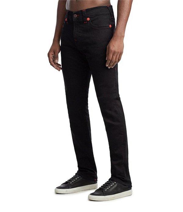 トゥルーレリジョン メンズ デニムパンツ ボトムス Manchester United Denim Collection Rocco Skinny Fit Jeans Body Rinse Black