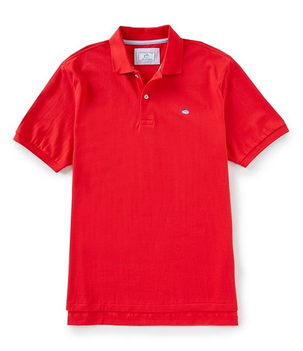 サウザーンタイド メンズ シャツ トップス Skipjack Short-Sleeve Polo Shirt Channel Marker Red