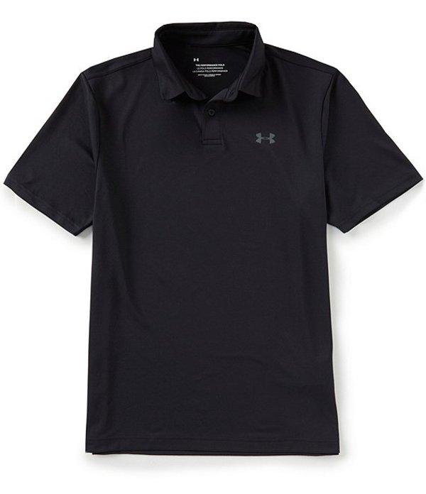 アンダーアーマー メンズ シャツ トップス Loose Golf Short-Sleeve Performance Polo 2.0 Black/Pitch Gray